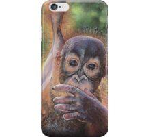 No Tree, No Me (Baby orangutan) iPhone Case/Skin