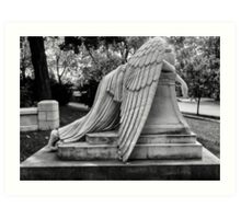 Even Angels Weep Art Print