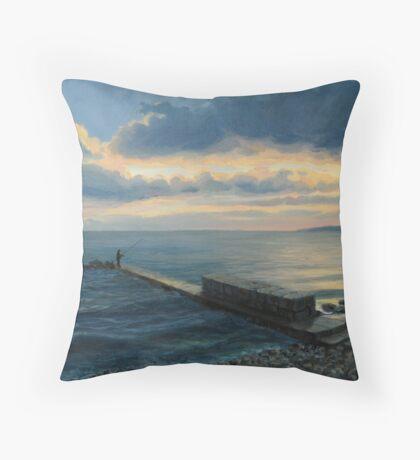 Sunset in Balchik Throw Pillow