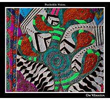 Om Vibration Black Ligth Photographic Print