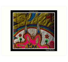 Happy Rainbow Black Ligth Art Print