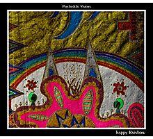 Happy Rainbow Black Ligth Photographic Print