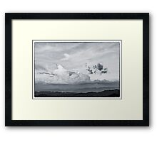 beautiful cloud on the top of mountain Framed Print