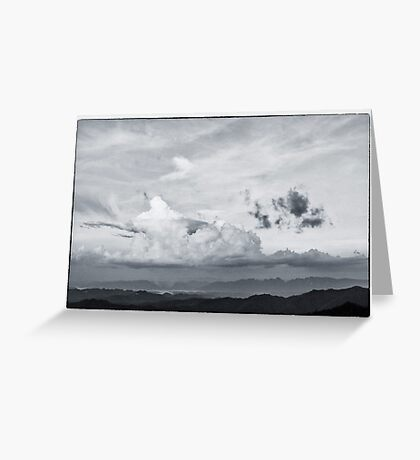 beautiful cloud on the top of mountain Greeting Card