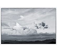 beautiful cloud on the top of mountain Photographic Print