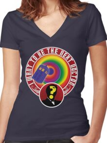 The Next Doctor Women's Fitted V-Neck T-Shirt
