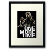 Metal Gear Solid - One More Time - White  Framed Print