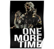Metal Gear Solid - One More Time - White  Poster