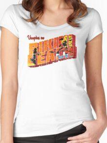 Vampires On Bikini Beach Women's Fitted Scoop T-Shirt