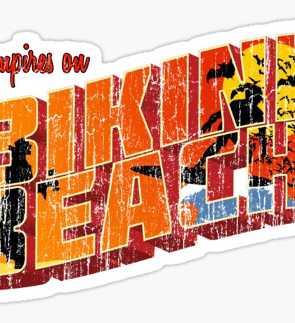 Vampires On Bikini Beach Sticker