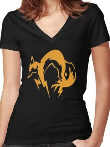 Metal Gear Solid - Fox Women's Fitted V-Neck T-Shirt