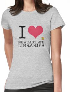 I Love Newcastle Libraries Womens Fitted T-Shirt