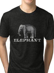 Elephant. Tri-blend T-Shirt