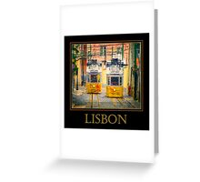 Gloria Funicular Lisbon Poster Greeting Card