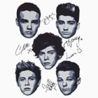 One Direction Art Signed T-Shirt by kmercury