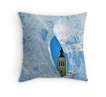 Freezing Tallinn Throw Pillow