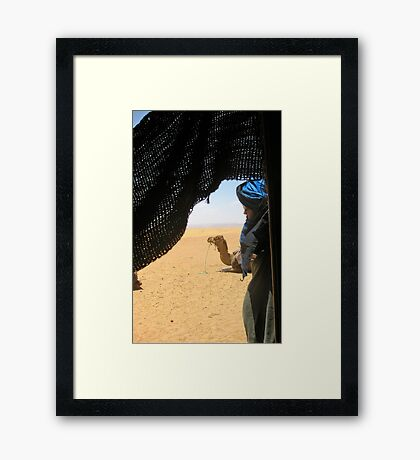 The Dude and His Ride Framed Print