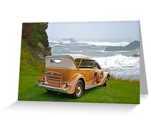 1934 Packard Touring Super Eight Greeting Card