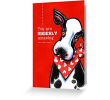 Udderly Amazing Funny Cow Valentine Greeting Card