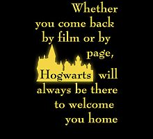 Hogwarts is our Home - Hufflepuff colors by bsbrock