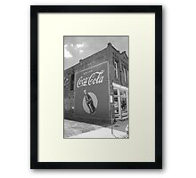 Route 66 - Coca Cola Mural Framed Print