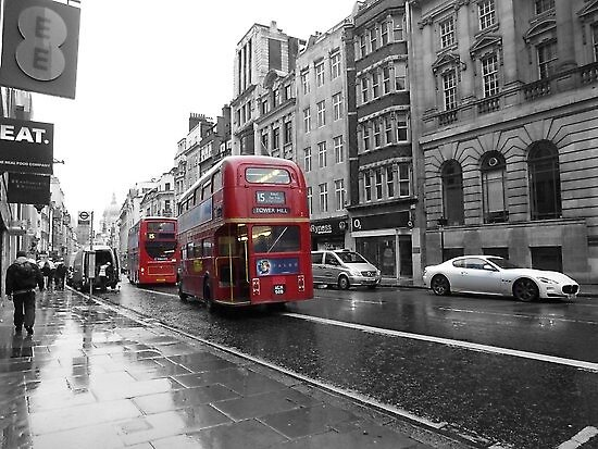London Red Bus by jredbubble