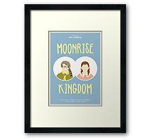 Moonrise Kingdom film poster Framed Print