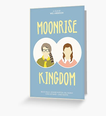 Moonrise Kingdom film poster Greeting Card