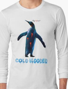 """COLDBLOODED"" Pengui-Cide Long Sleeve T-Shirt"
