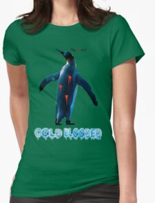 """COLDBLOODED"" Pengui-Cide Womens Fitted T-Shirt"