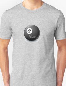 Magic 8-Ball reply hazy try again funny tee    T-Shirt