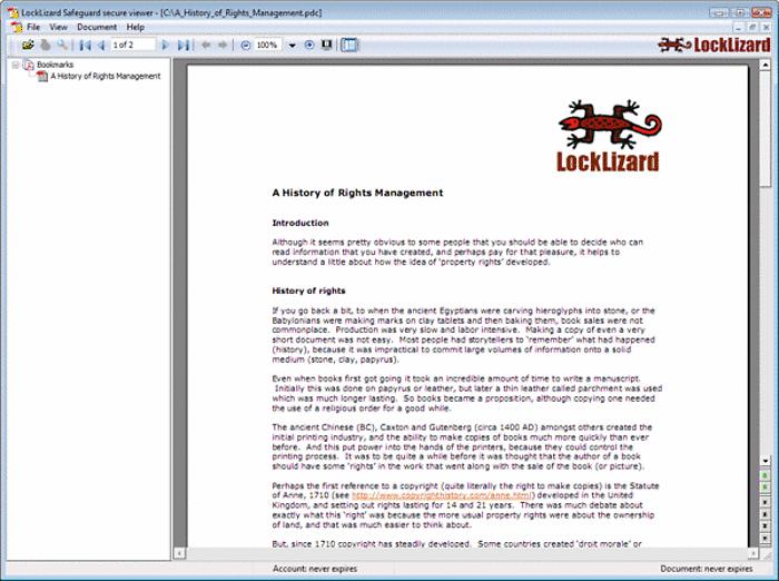 SECURE PDF VIEWER DEMO - RESTRICT / CONTROL PDF ACCESS  by locklizard