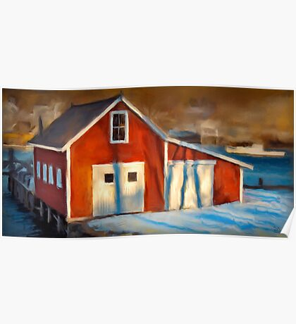 Fishhouse, New Harbor Maine Poster