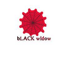 black widow spider web chick tee  Photographic Print