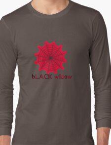 black widow spider web chick tee  Long Sleeve T-Shirt