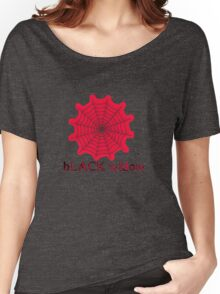 black widow spider web chick tee  Women's Relaxed Fit T-Shirt