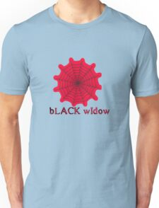 black widow spider web chick tee  Unisex T-Shirt