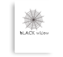 black widow spider web chick tee  Canvas Print