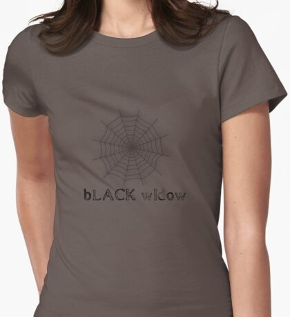 black widow spider web chick tee  Womens Fitted T-Shirt