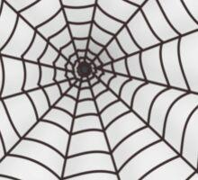 black widow spider web chick tee  Sticker