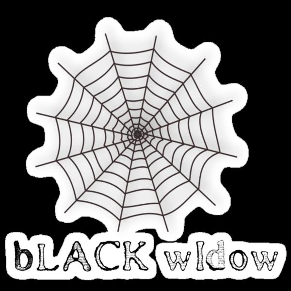 black widow spider web chick tee  by Tia Knight