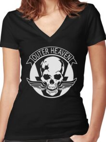 Metal Gear Solid - Outer Haven Women's Fitted V-Neck T-Shirt
