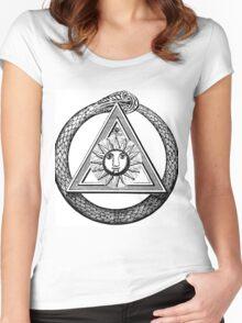 Style,illuminati , franc maçon Women's Fitted Scoop T-Shirt