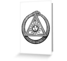 Style,illuminati , franc maçon Greeting Card