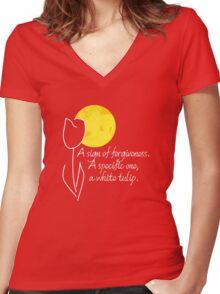 White Tulip Women's Fitted V-Neck T-Shirt