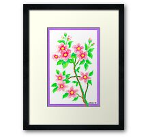 FLOWERING SHRUB Framed Print