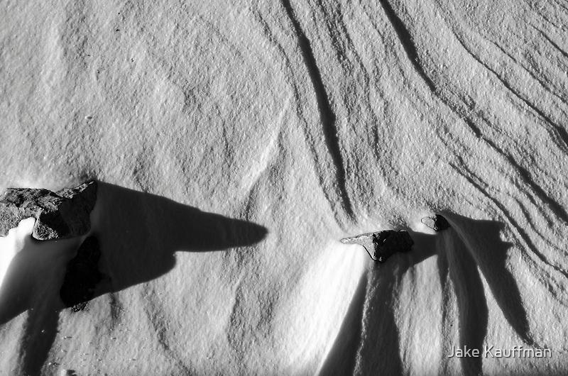 B&W Rocks and Snow by Jake Kauffman