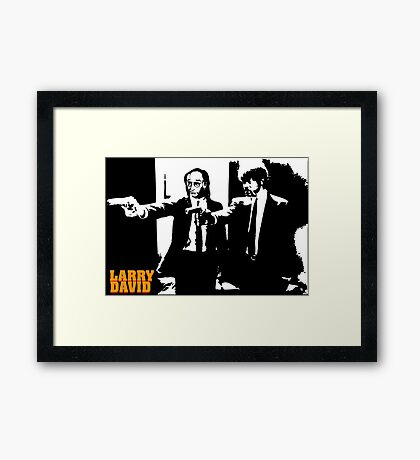 Larry David Pulp Fiction Framed Print