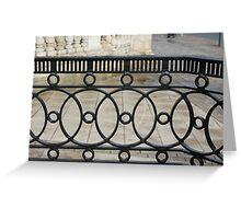 iron railings Greeting Card
