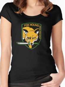 Metal Gear Solid - Fox Hound Women's Fitted Scoop T-Shirt